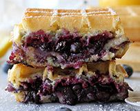 Brie and Blueberry Waffle Grilled Cheese from eatwisconsincheese