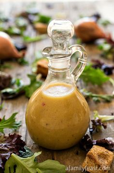 Simple Red Wine Vinaigrette - A quick and easy homemade vinaigrette that is perfect with grilled meats and salads!