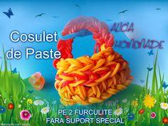 COSULET DE PASTE FOARTE USOR DE FACUT FARA SUPORT SPECIAL RAINBOW LOOM Paste, Rubber Bands, Loom, Jewelry, Jewlery, Jewerly, Schmuck, Jewels, Jewelery