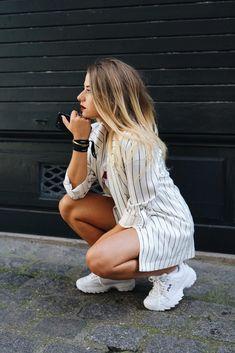 #tumblr #fila #disruptor #girl #cute #outfit #black #white ...