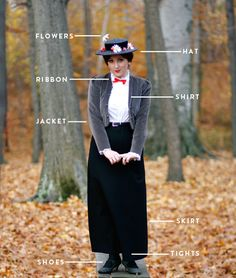 last minute halloween costumes. Create Your Own Mary Poppins Costume. Imagine if I made it time lord too! Mmmm the ideas! Last Minute Halloween Costumes, Disney Halloween, Halloween Diy, Costume Halloween, Halloween Clothes, Halloween Costumes Mary Poppins, Mary Poppins Adult Costume, Mary Poppins Outfit, Halloween Foods