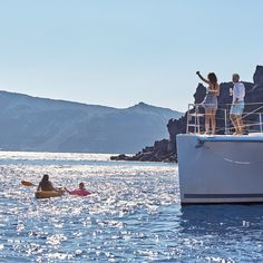 Refresh yourself with the swim after a day one the water with Sunset Oia Sailing Cruises