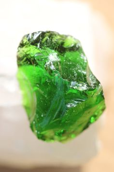 Green Merlin's Light Andara Crystal Specimen with Bubbles!!