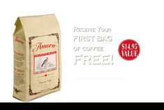 Amora Coffee, super-premium coffee, small batch roasted just for you. Prepaid Visa Card, Coffee Canister, Premium Coffee, Perfect Cup, French Vanilla, Great Coffee, One Bag, All You Can, New Flavour