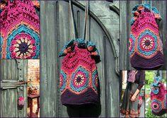 Bohemian granny bag by dulcinae2010, via Flickr