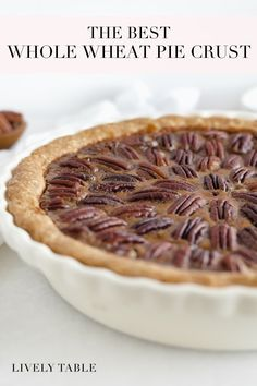 A tender, flaky whole wheat pie crust made with just 2 ingredients and without shortening. It's the perfect all-purpose base sure to make any pie more delicious and nutritious! (vegan option) #veganoptionpiecrust #thebestpiecrust #wholewheatpiecrust #thanksgivingdesserts #holidaydessertrecipes #thebestcrustrecipe #piecrustrecipe #easypiecrust #easypierecipe #easywholewheatpiecrust #allbutterpiecrust #pierecipes #holidaydesserts #thanksgivingrecipes Whole Wheat Pie Crust, All Butter Pie Crust, Easy Pie Crust, Vegan Thanksgiving, Thanksgiving Desserts, Holiday Desserts, Easy Pie Recipes, Pie Crust Recipes, Dessert Recipes
