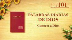"Palabras diarias de Dios   Fragmento 101   ""Dios mismo, el único I"" #IglesiadeDiosTodopoderoso #Evangelio #VideosCristianos #LaVidaEterna #ElReinoDeDios #EspírituSanto #ElSeñorJesús #LaObraDeDios  #LosÚltimosDías #ElAguaDeVida Christian Films, Christian Videos, Devotion Of The Day, Saint Esprit, Daily Word, Apps, Knowing God, In The Flesh, Word Of God"