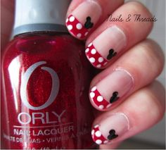 Nails  Threads: Mickey Mouse Nail Art
