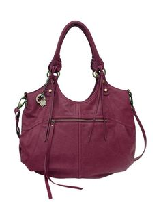 """Lucky Brand """"Knots Landing"""" Purple Leather Hobo Tote #LuckyBrand #Tote #Shoppers"""