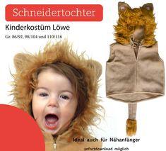 Nähanleitungen Kind - Ebook - Kinderkostüm Löwe Gr. 86-116 - ein Designerstück von Schneidertochter_Berlin bei DaWanda