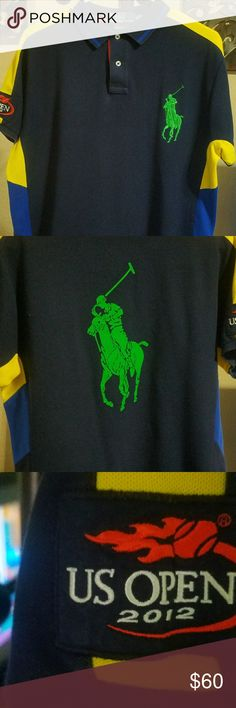 Polo shirt bundle. Set of 2 Blue polo shirt with large green polo on back Polo by Ralph Lauren Shirts Polos