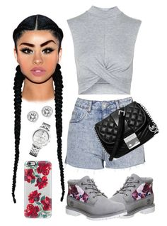 Shade of Gray by arikaijones on Polyvore featuring polyvore, fashion, style, Topshop, Timberland, Michael Kors, Tommy Hilfiger, Casetify and clothing