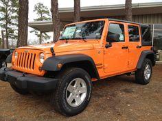 Orange Crush Jeep Wrangler Unlimited