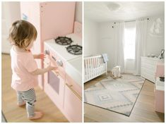 Decorating Hadley's nursery is still one of my favorite memories. We moved into our 1984 home six weeks before Hadley was due and … White Nursery, Nursery Neutral, Small Nurseries, Nursery Inspiration, Nursery Design, Hadley, Cribs, Kylie, Budgeting
