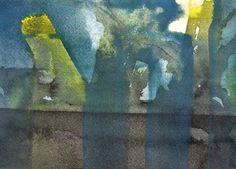 """""""Abstraktion"""", bagvedliggende udvaskninger og transparente lag over."""