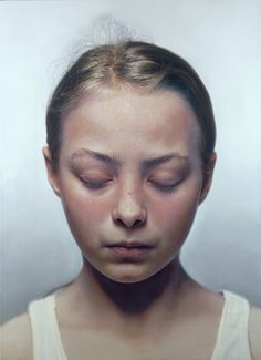 Gottfried Helnwein - Head of a Child III (2000) Oil and acrylic on canvas