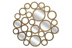 One Kings Lane - Mod & Pop - Metal Contemporary Wall Decor Mirror Wall Mirrors Entryway, Small Wall Mirrors, Lighted Wall Mirror, Silver Wall Mirror, Rustic Wall Mirrors, Contemporary Wall Mirrors, Round Wall Mirror, Metal Mirror, Mirror Mirror