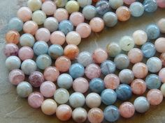 Natural Morganite Polished Round by whitewillowcreek on Etsy Semi Precious Beads, Gemstone Beads, Beaded Jewelry, Polish, Shapes, Gemstones, Natural, Jewelry Ideas, Beading