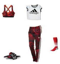 """Lounging"" by cheerleader-rachel19 on Polyvore featuring adidas Originals and adidas"