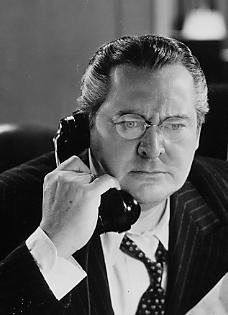 Edward Arnold plays Business Tycoon Anthony P Kirby who is Jimmy Stewart's Father in You Can't Take It with You