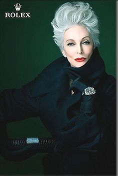 Carmen Dell'Orefice -(Born 1931) Such a stunning woman. Rolex ad.