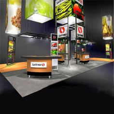 """I like the simple approach Safeway took with this booth. It gets what they do across without being overwhelming. """"Safeway 