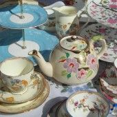 Vintage china on wedding table #Shabby Chic Wedding ... Wedding ideas for brides & bridesmaids, grooms & groomsmen, parents & planners ... https://itunes.apple.com/us/app/the-gold-wedding-planner/id498112599?ls=1=8 … plus how to organise an entire wedding, without overspending ♥ The Gold Wedding Planner iPhone App ♥