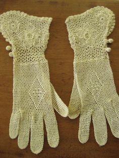 hand-crocheted Victorian gloves. $32.00, via Etsy.
