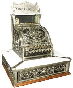 National Cash Register Co. Barber Shop Model SN# Military finish as it is called. on Oct 2016 Swivel Counter Stools, Cash Register, Weird Cars, Garden Items, Typewriters, Cafe Design, Barber Shop, Decorative Boxes, Auction