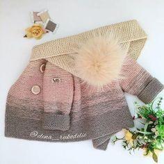 小棕熊男宝宝开衫2件套(背心+长袖)视频 - 明月的棒针艺术