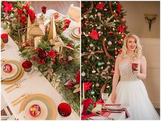This Christmas themed styled shoot was perfect for the December bride! You can never go wrong with a Gardens in the Gorge Wedding. Downtown Chattanooga, Cute Cottage, Rental Decorating, Red Roof, Christmas Fashion, Christmas Wedding, Christmas Themes, Bridal Hair, Nice Dresses