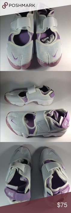 Lavender linen Nike Air Rift Nike air rift. Worn once or never - these are old, can't remember. Excellent condition either way. No box Nike Shoes Sneakers