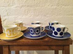 Arabia puhalluskoriste kahvikuppi Finland, Retro Vintage, Cups, Tableware, Eggs, Mugs, Dinnerware, Tablewares, Place Settings
