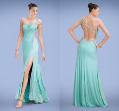 Find More Prom Dresses Information about Hot Design Floor Length One Shoulder Side Split Chiffon Crystals Bandage Open Back Formal Evening Dresses Sexy Prom Dress,High Quality dress warm,China dress up games dress Suppliers, Cheap dresses set from Amanda's Dress House on Aliexpress.com
