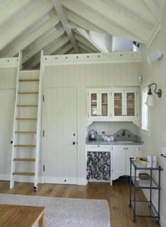 Loft ladder and rail idea