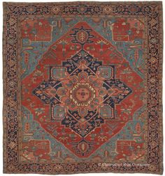 Persian Heriz Serapi rug, 10ft 3in x 11ft 2in, Circa 1875, Claremont gallery