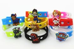 16pcs (Puppy Power) Paw Patrol Shoe Charms & Wristband Bracelet Kids Party Gifts Shoe Charmers http://www.amazon.com/dp/B00KG2LKW4/ref=cm_sw_r_pi_dp_uz6Mtb0A0TCNN8Q3