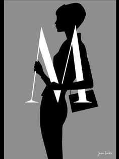 """Letter M - From """"Silhouette Alphabet"""" series by Jason Brooks"""