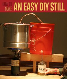 How To Make A Still | Survival DIY and Self Reliance Projects and Tutorial Ideas http://diyready.com/how-to-make-a-still-self-reliance/
