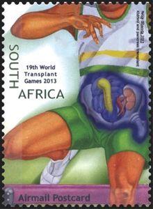 Stamp: Kidney and Pancreas Transplant, Running (South Africa) (World Transplant Games) Mi:ZA 2228 Postage Stamps, Running, Games, World, Keep Running, Why I Run, Gaming, Stamps