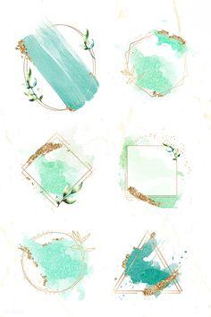 Watercolor Logo, Green Watercolor, Watercolor Design, Logo Background, Watercolor Background, Logo Deco, Branding Design, Logo Design, Snapchat Stickers