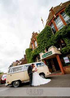 Bride & Groom and VW Campervan @ The Roffen, Medway – Wedding Photography by Clare Kentish Photographer, Rayleigh, Essex