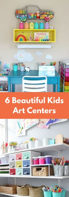 6 different art center ideas for kids in your home!