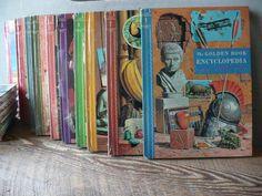 The Golden Book Encyclopedia Book Set Complete Set 1-16 | Etsy Vintage Fall Decor, Vintage Owl, Glass Light Globes, Ceiling Light Covers, Encyclopedia Books, Plastic Coating, Owl Ornament, Vintage Valentine Cards, Flower Bowl