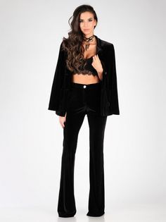 Ženske Hlače CARLA BY ROZARANCIO #black_fashion #corset #bustier #plush #women_fashion