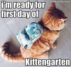 This was so me on my first day of kindergarten.