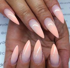 Pastel pink & purple gradient nails