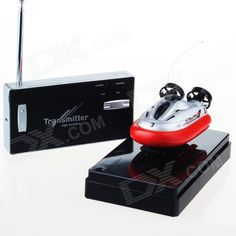Mini Rechargeable 2-Channel Radio Control R/C Hovercraft Toy - Red + Black. Model: 220 - Quantity: 1 Piece(s) per pack - Color: Red + Black - Material: ABS + Alloy - Channel: 2 Channels - Channel Specification: Forward / backward / left / right - Gyroscope: No - Remote Type: Radio Control - Remote Control Frequency: 27 MHz - Remote Control Range: 10 meters - Battery Capacity: 150 mAh - Battery Type: NiMH - Charging Time: 12 minutes - Working Time: 10 minutes - Remote Control Type: Included…