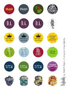 Resin Bottle Cap Pins Tutorial with Harry Potter and Hunger Games Printable - Rae Gun Ramblings Harry Potter Jewelry, Harry Potter Pin, Harry Potter Birthday, Bottle Cap Crafts, Bottle Caps, Magic Crafts, Harry Potter Printables, Bottle Cap Images, Shrinky Dinks