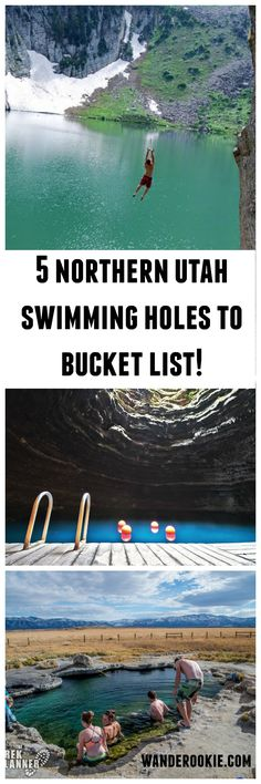 Northern Utah swimming holes...need to try the ropes at Mona Ponds this summer!